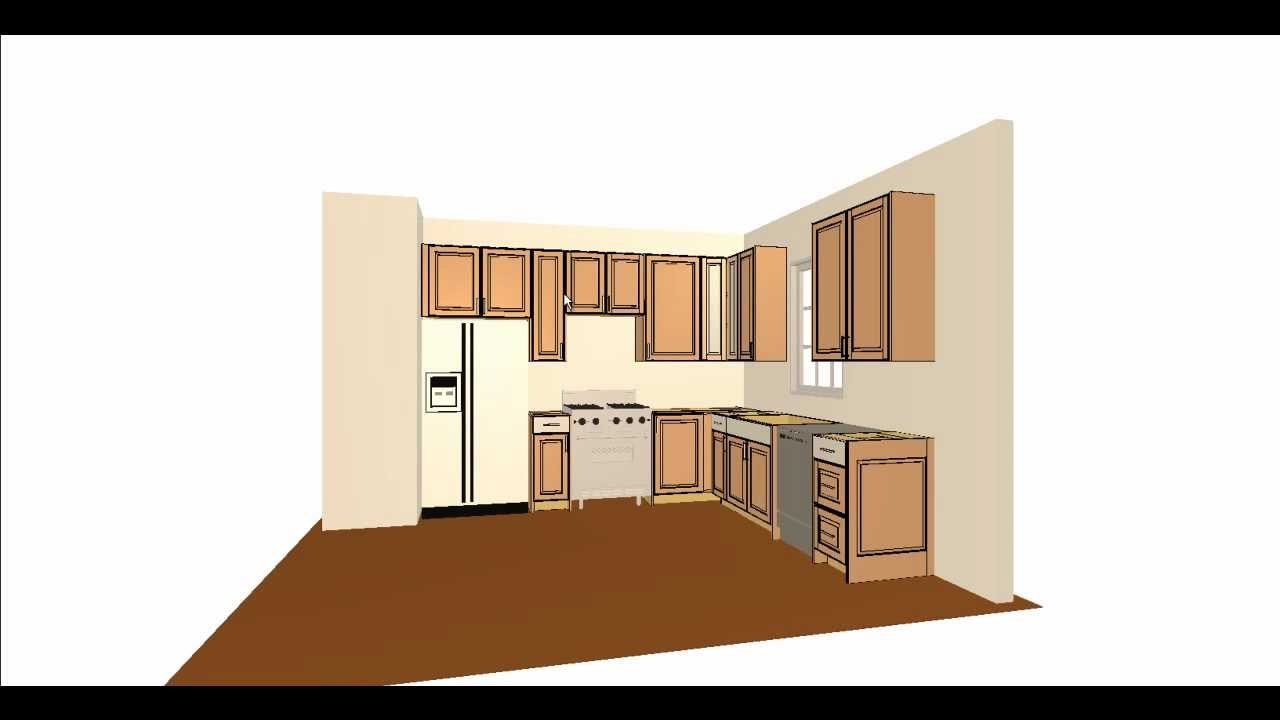 Simple kitchen layout youtube for Basic kitchen layout