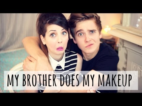 My Brother Does My Makeup (Take 2) | Zoella