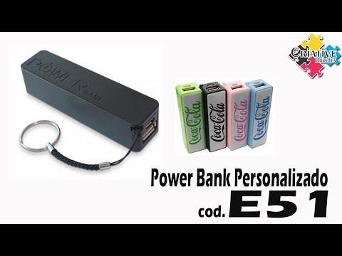 Powerbank E51 Personalizado - Criative Brindes