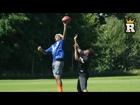KSI ATTEMPTS ODELL BECKHAM JR's ONE HANDED CATCH | Rule'm Sports