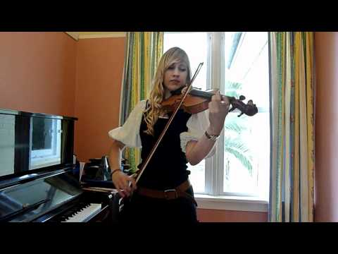 Lara plays Pirates of the Caribbean theme on violin