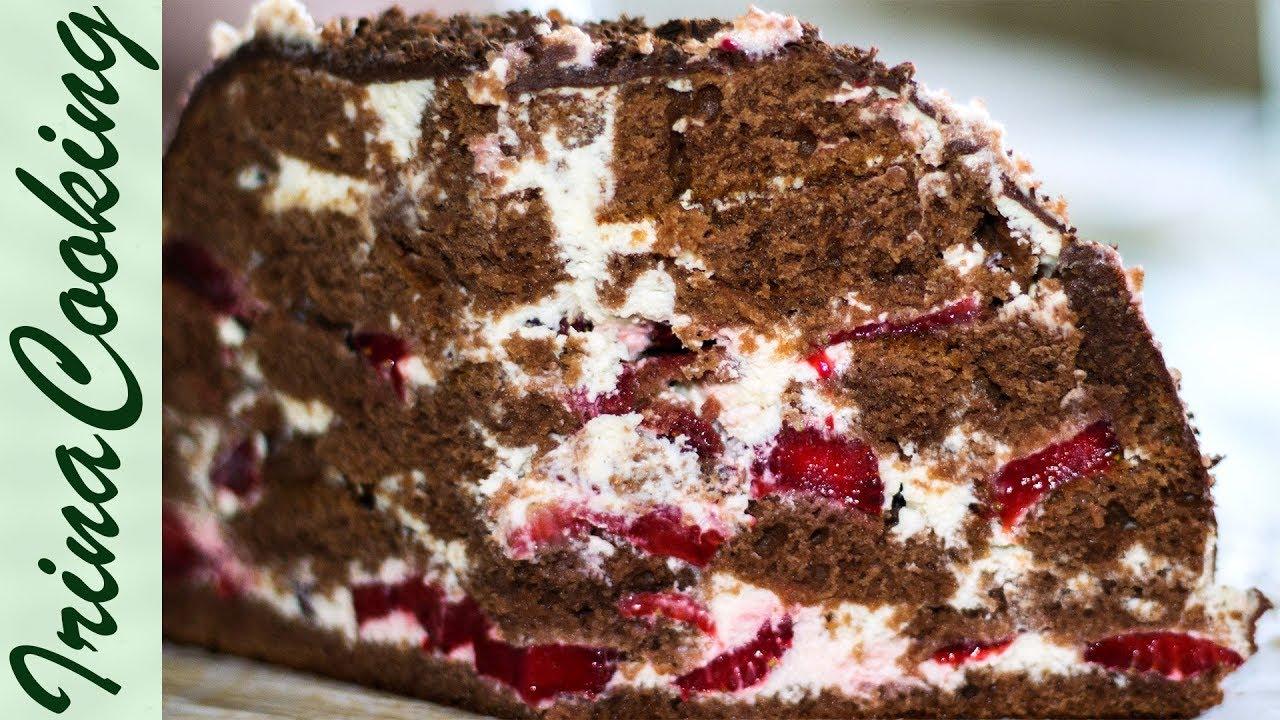 Вишневый торт со сметанным кремом рецепт