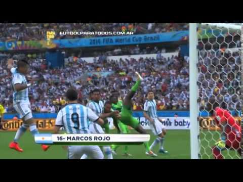 MUNDIAL BRASIL 2014 - ARGENTINA 3 NIGERIA 2 - GOL DE MARCOS ROJO