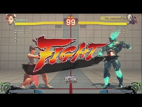 Vivi (Chun Li) vs Inaba (Seth) - USF4 Matches *1080p*