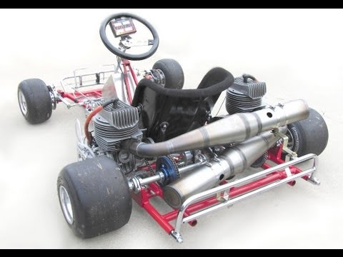 Racing Lawn Mower Engine >> 270cc dual engine kart fast Camden race track, not drifting donut burning Gixxer - YouTube