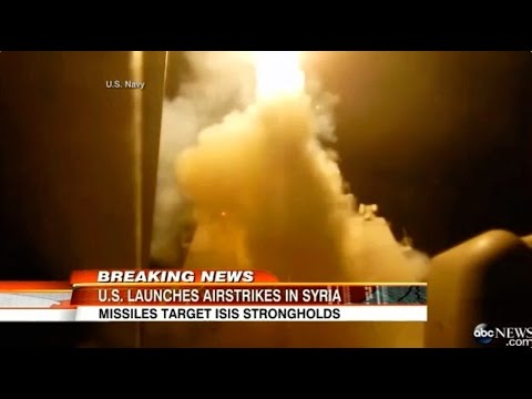 US Airstrikes ISIS Bombing Syria Islamic State - Bomb Attacks ISIL Iraq Fire Missiles [RAW FOOTAGE]