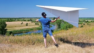 DIY Giant 122 inches Flying Paper Airplane