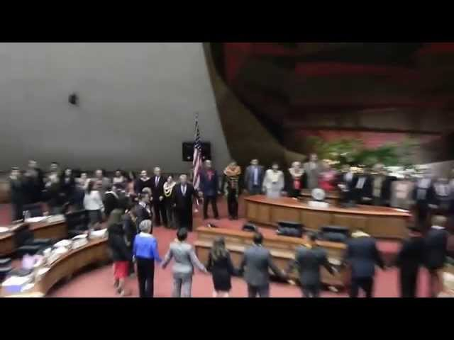 Legislators Sing Hawaii Aloha at Adjournment Sine Die