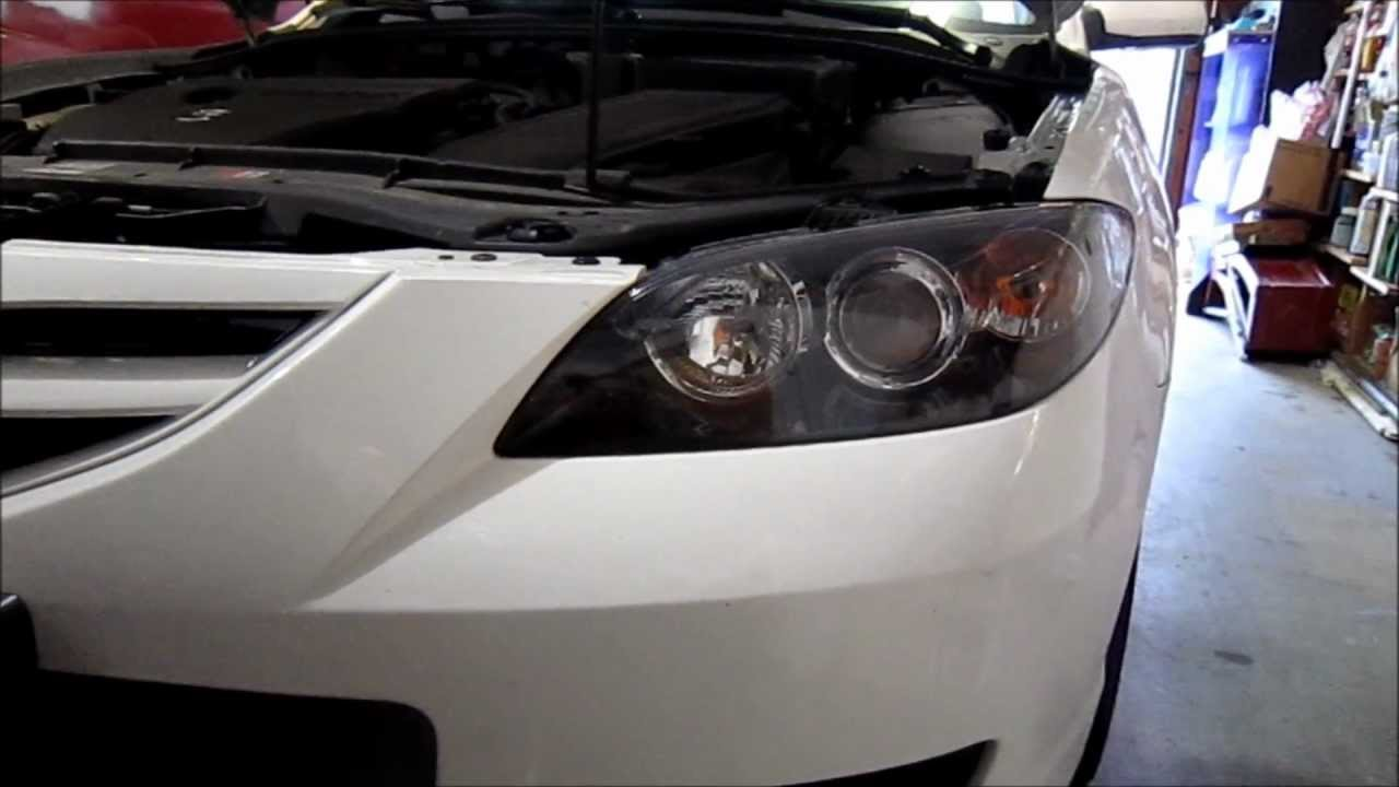 Mazda 3 2007 Headlight Bulb Replacement Youtube