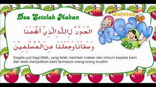 Doa sesudah Makan dan artinya
