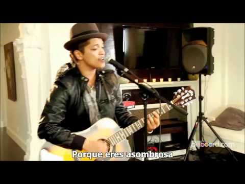 Bruno Mars - Just the way you are (Acustic) (Subtitulado-Esp-Ing) HD