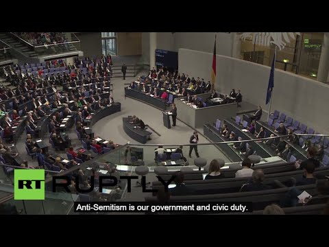 Germany: 'Anti-semitism is our DUTY' - Watch Merkel make gaffe of the YEAR!