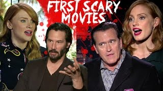 Celebrities share their first horror movie experiences (HD) JoBlo.com Exclusive