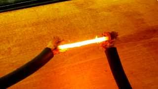 Ampere versus: Nail. How to light up a cigarette.