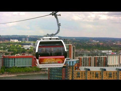 Emirates Air Line - Thames Cable Cars - London Landmarks - High Definition (HD) YouTube Video