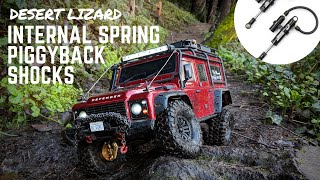 BEST TRX-4 SHOCK UPGRADE?  |  Trail Testing 90mm Desert Lizard Piggyback Shocks