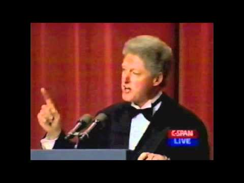 Bill Clinton At The White House Correspondents Dinner, 1996 pt2