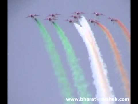 The Indian Air Force - Suryakiran Aerobatic Team (music By Les Lewis) video