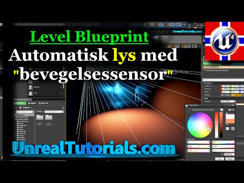 Norsk Unreal Engine 4 Oppl Ring Automatisk Lys I Level