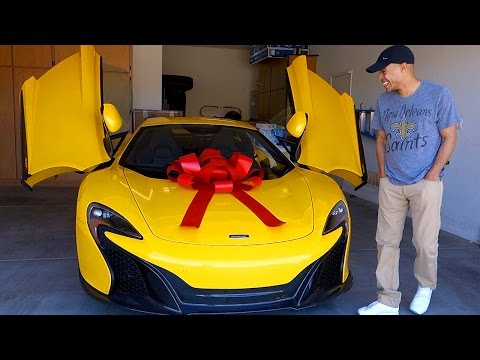 SURPRISING HUSBAND WITH DREAM CAR THE MCLAREN!!!