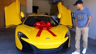 SURPRISING HUSBAND WITH DREAM CAR THE MCLAREN!!!