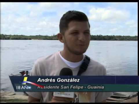 Novedoso medio de transporte en San Felipe, puerto sobre el río Guainía