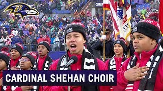 Cardinal Shehan School Choir Sings Beautiful National Anthem at Baltimore Ravens Game