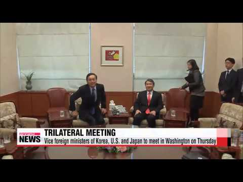Vice foreign ministers of Korea, U.S. and Japan to meet in Washington on Thursda