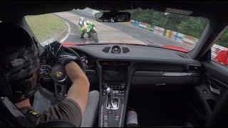Porsche 991.2 GT3RS & FAST BIKER on Nordschleife//.