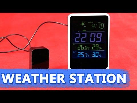 Домашняя метеостанция YGH-391 🌈 с беспроводным выносным датчиком