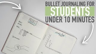 Bullet Journaling FOR STUDENTS | UNDER 10 MINUTES