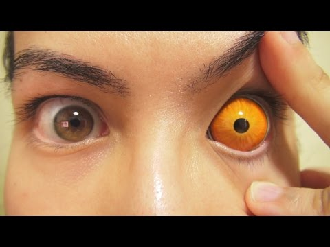 how to put in sclera contacts