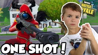ONE SHOT SQUADS in FORTNITE BATTLE ROYALE (BLOX4FUN SQUAD)