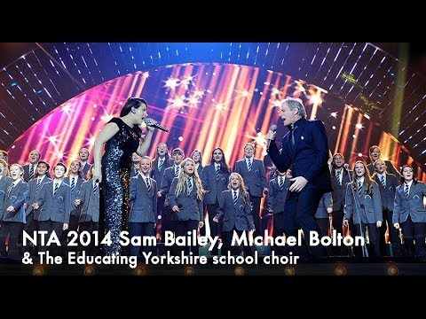Sam Bailey & Michael Bolton Open the show at the NTAs 2014