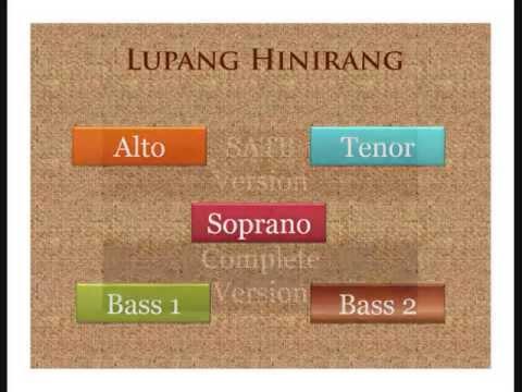 Lupang Hinirang (satb) - Tutorial For Choir video