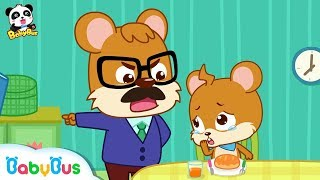 Whiskers Doesn't Want to Brush His Teeth   Good Habits   Picture Book Animation for Kids   BabyBus