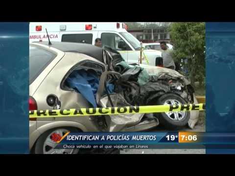 Identifican a policías que fallecieron en accidente en la Carretera Nacional