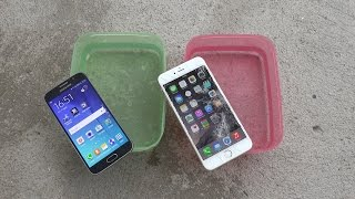 Samsung Galaxy S6 vs. iPhone 6 Plus - Water Test Will It Survive?