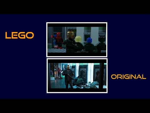 Spider-Man Homecoming Trailer in LEGO Side by Side Comparison