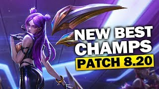 END OF SEASON! New Best Champions in Patch 8.20 SEASON 8 for Climbing in EVERY ROLE