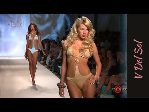 V Del Sol - Miami Swim 2010 Fashion Runway Show With Bikini Sexy Models Mbfw video