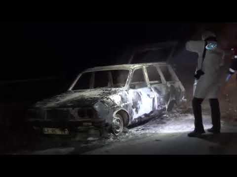 Yanan Otomobilde 2 Ceset Bulundu