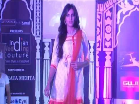 Neha Dhupia Walks The Ramp For Indian Wedding Couture