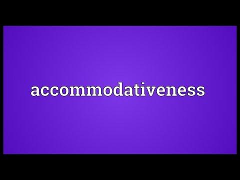 Header of accommodativeness