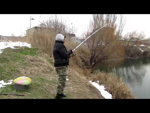 Рыбалка зимой на Сазана | Незамерзающее озеро| VLOG