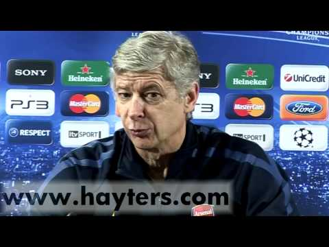 Arsene Wenger Arsenal v Barcelona Pre Match Press Conference - 15-FEB-11