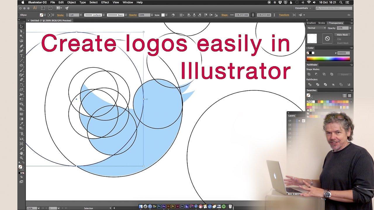 Easy logo design illustrator