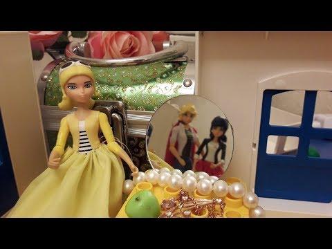 Сказка про Маринетт, Адриана и Хлою Спящая красавица Видео с игрушками Леди Баг и Супер кот