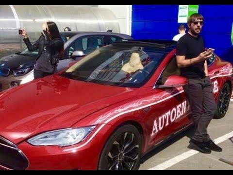 Мажор на Tesla VS Парковщики