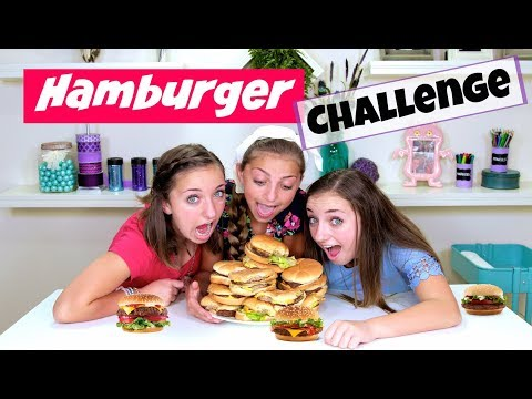 The Hamburger Challenge 🍔  | Brooklyn and Bailey